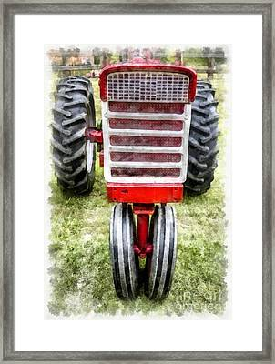 Vintage International Harvester Tractor Framed Print by Edward Fielding