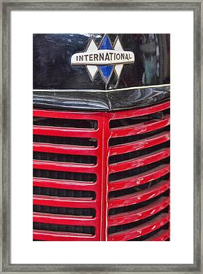 Vintage International Truck Framed Print