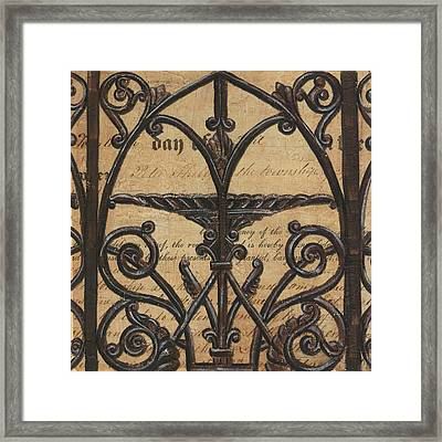 Vintage Iron Scroll Gate 1 Framed Print by Debbie DeWitt