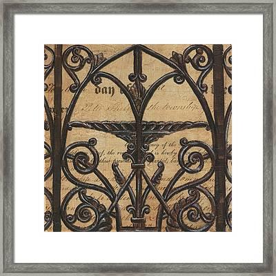 Vintage Iron Scroll Gate 1 Framed Print by Debbie DeWitt