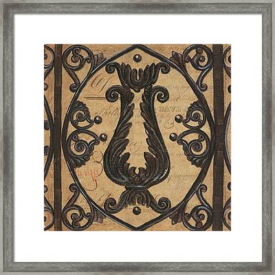 Vintage Iron Scroll Gate 2 Framed Print by Debbie DeWitt