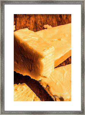 Vintage Italian Cheeses Framed Print by Jorgo Photography - Wall Art Gallery