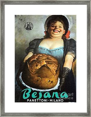 Vintage Italian Fresh Baked Bread Framed Print by Mindy Sommers