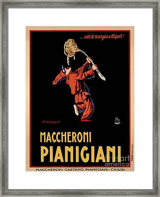 Vintage Italian Pasta Advertising Framed Print by Mindy Sommers