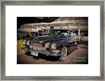 Vintage Jaguar Framed Print by Adrian Evans