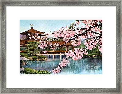 Vintage Japanese Art 12 Framed Print by Hawaiian Legacy Archive - Printscapes