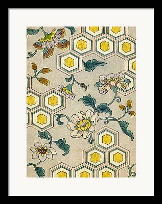 Flower Motifs Framed Prints