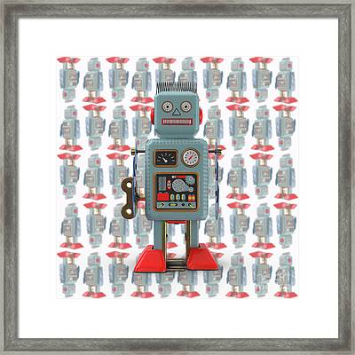 Framed Print featuring the photograph Vintage Japanese Toy Robot Design by Edward Fielding