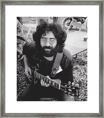 Vintage Jerry Garcia Framed Print by Pd