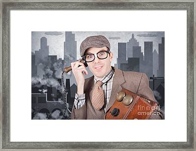 Vintage Journalist. Breaking News Press Release Framed Print by Jorgo Photography - Wall Art Gallery