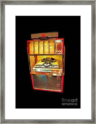 Vintage Jukebox Tee Framed Print