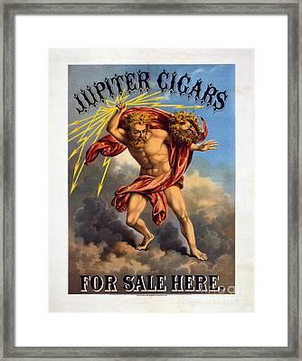 Vintage Jupiter Cigar Advertisement Framed Print