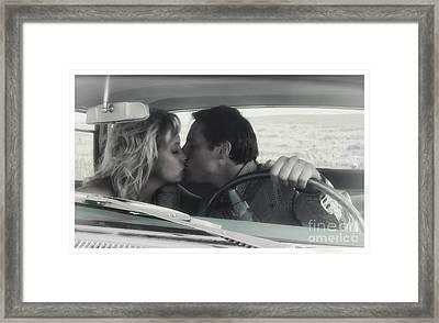 Vintage Kiss Framed Print by Brad Allen Fine Art