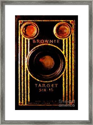 Vintage Kodak Brownie Target Six-16 Camera Framed Print