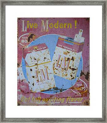 Vintage L And M Cigarette Sign Framed Print