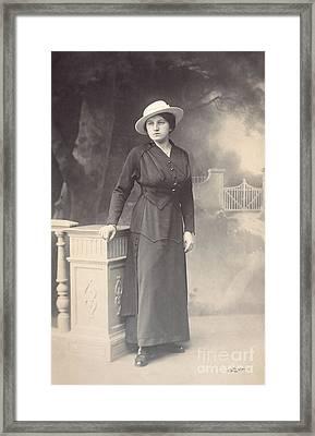 Vintage Lady Framed Print by Jutta Maria Pusl