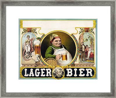 Vintage Lager Beer Advertisement Framed Print by CartographyAssociates