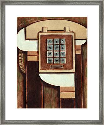 Tommervik Vintage Landline Phone Art Print Framed Print