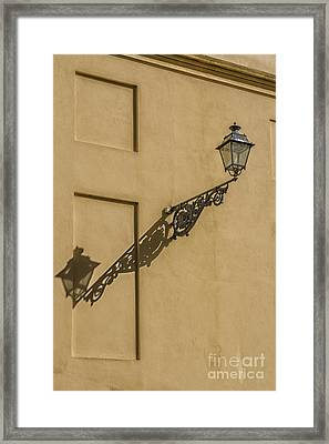 Vintage Lantern With Shadow Framed Print by Patricia Hofmeester
