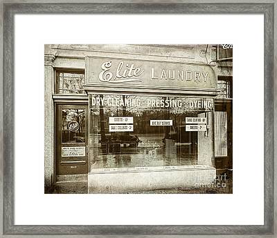 Vintage Laundromat Framed Print by Mindy Sommers