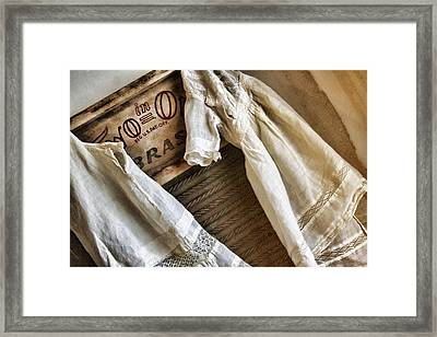 Vintage Laundry I Framed Print by Marcie  Adams
