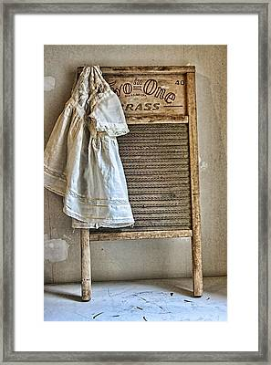 Vintage Laundry II Framed Print by Marcie  Adams