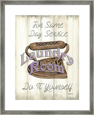 Vintage Laundry Room 1 Framed Print by Debbie DeWitt
