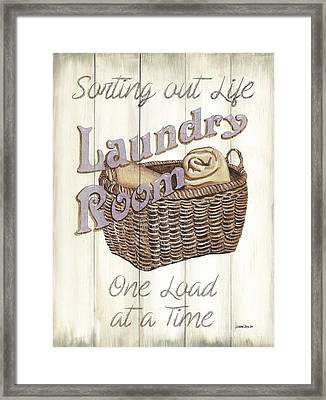 Framed Print featuring the painting Vintage Laundry Room 2 by Debbie DeWitt
