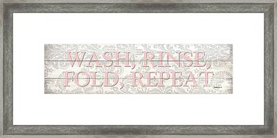 Vintage Laundry Room Sign 2 Framed Print by Debbie DeWitt