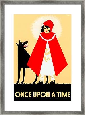 Vintage Little Red Riding Hood Poster Framed Print by Mark E Tisdale
