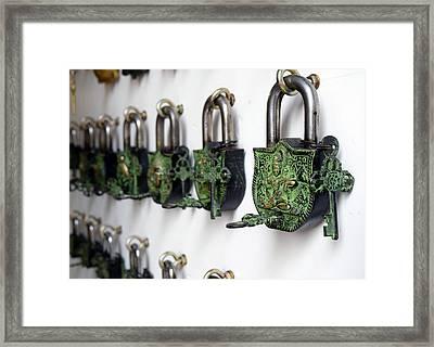 Vintage Locks Framed Print by Sumit Mehndiratta