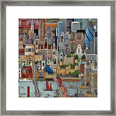Framed Print featuring the drawing Vintage London by Digital Art Cafe