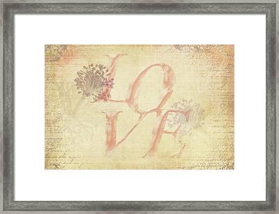 Vintage Love Framed Print by Caitlyn Grasso