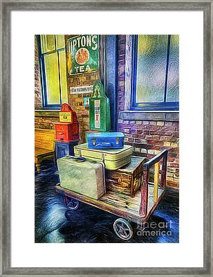 Vintage Luggage Framed Print