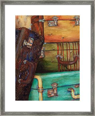 Vintage Luggage Framed Print by Winona Steunenberg