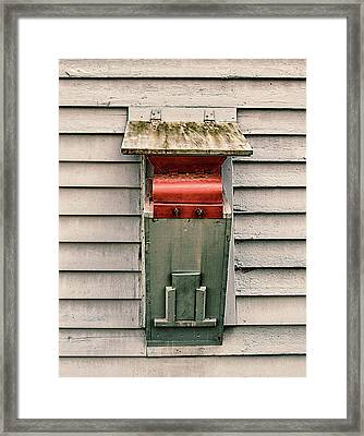 Framed Print featuring the photograph Vintage Mailbox by Gary Slawsky