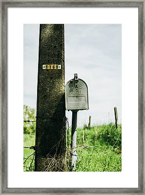 Vintage Mailbox Framed Print by Pati Photography
