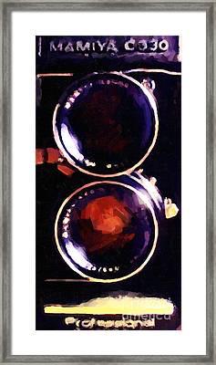 Vintage Mamiya Camera Framed Print by Wingsdomain Art and Photography