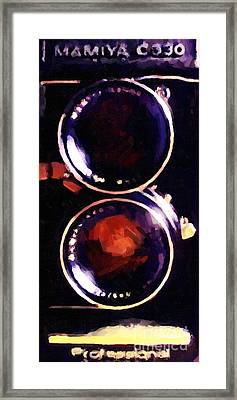 Vintage Mamiya Camera Framed Print