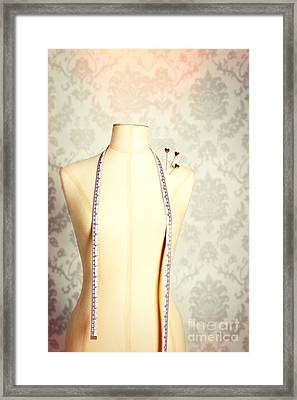 Vintage Mannequin With Tape Measure Framed Print by Amanda Elwell
