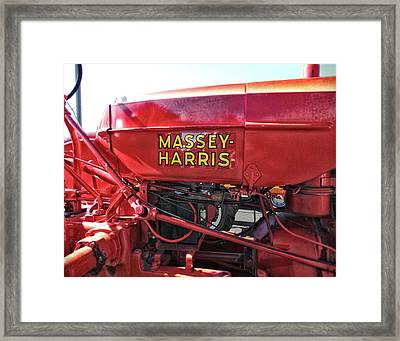 Vintage Massey Harris Tractor Framed Print by Ann Powell