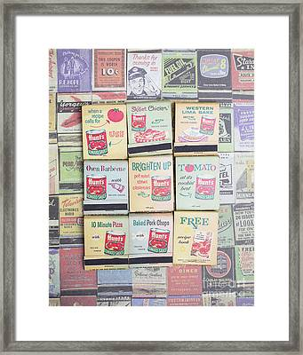 Framed Print featuring the photograph Vintage Matchbooks by Edward Fielding
