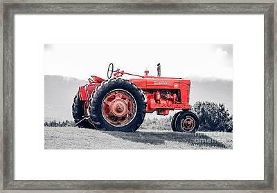 Vintage Mccormick Farmall Tractor Framed Print by Edward Fielding