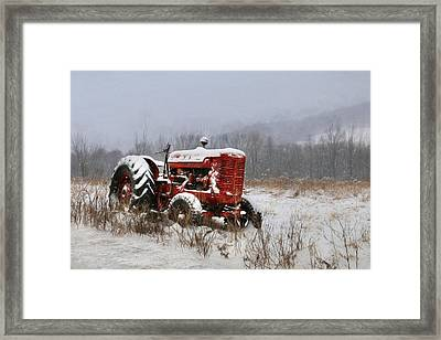 Vintage Mccormick Tractor Framed Print by Lori Deiter