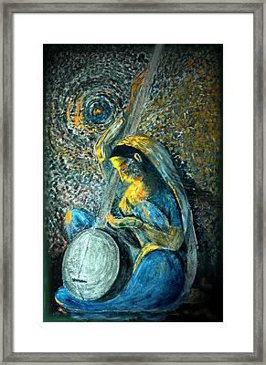 Vintage - Meera - Singing For Krishna Framed Print by Harsh Malik