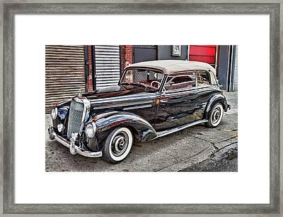 Vintage Mercedes Beauty Shot Framed Print