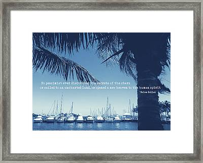 Vintage Miami Quote Framed Print by JAMART Photography