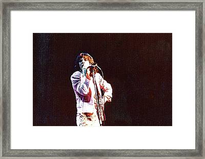 Vintage Mick 1975 Framed Print by Claire McGee