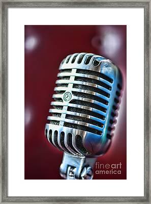 Vintage Microphone 1 Framed Print by Paul Ward