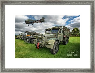 Vintage Military Transport Framed Print by Adrian Evans